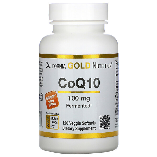 California Gold Nutrition, CoQ10, 100 mg, 120 cápsulas blandas vegetales