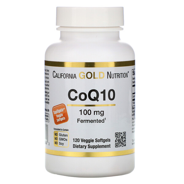 California Gold Nutrition, CoQ10, 100 mg, 120 Veggie Softgels