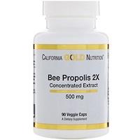 Прополис 2X, концентрированный экстракт, 500 мг, 90 вегетарианских капсул - фото