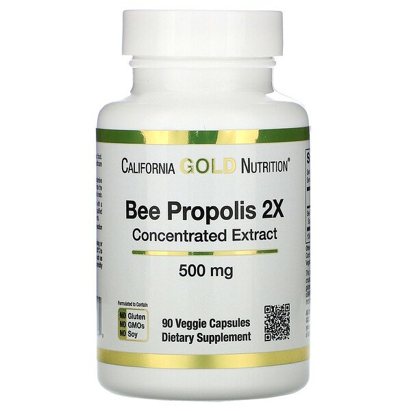 Bee Propolis 2X, Concentrated Extract, 500 mg, 90 Veggie Caps