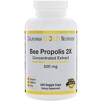 Прополис 2X, Концентрированный экстракт, 500 мг, 240 вегетарианских капсул - фото