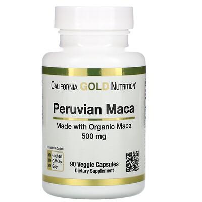 California Gold Nutrition перуанская мака, 500мг, 90растительных капсул