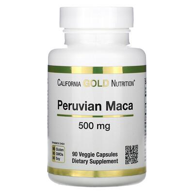 Купить California Gold Nutrition перуанская мака, 500мг, 90вегетарианских капсул
