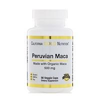 Перуанская мака, Органический корень, 500 мг, 90 вегетарианских капсул - фото
