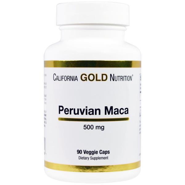 California Gold Nutrition, Перуанская мака, 500 мг, 90 вегетарианских капсул