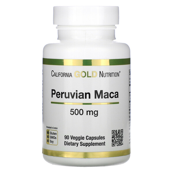 California Gold Nutrition, Peruvian Maca, 500 mg, 90 Veggie Capsules