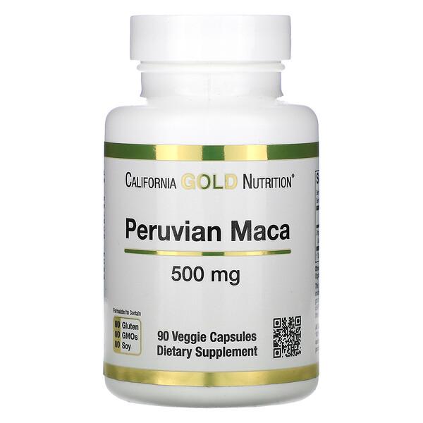 Peruvian Maca, 500 mg, 90 Veggie Capsules