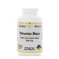 Перуанский мака, Органический корень, 500 мг, 240 вегетарианских капсул - фото