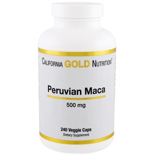 California Gold Nutrition, Peruvian Maca, 500 mg, 240 Veggie Caps