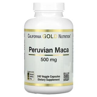 California Gold Nutrition, Peruvian Maca, peruanisches Maca, 500mg, 240pflanzliche Kapseln