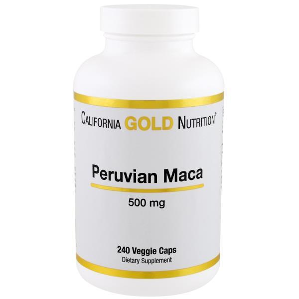 California Gold Nutrition, Peruvian Maca、500 mg、240ベジタブルカプセル