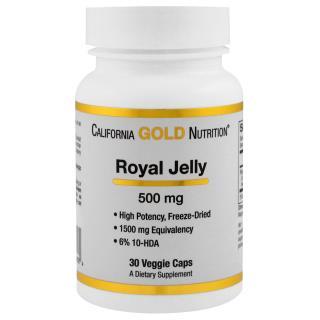 California Gold Nutrition, Royal Jelly, 500 mg, 30 Veggie Caps