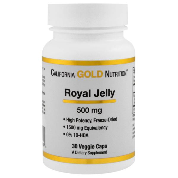 California Gold Nutrition, Royal Jelly, 500 mg, 30 Veggie Caps