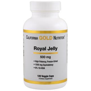 California Gold Nutrition, Royal Jelly, 500 mg, 120 Veggie Caps