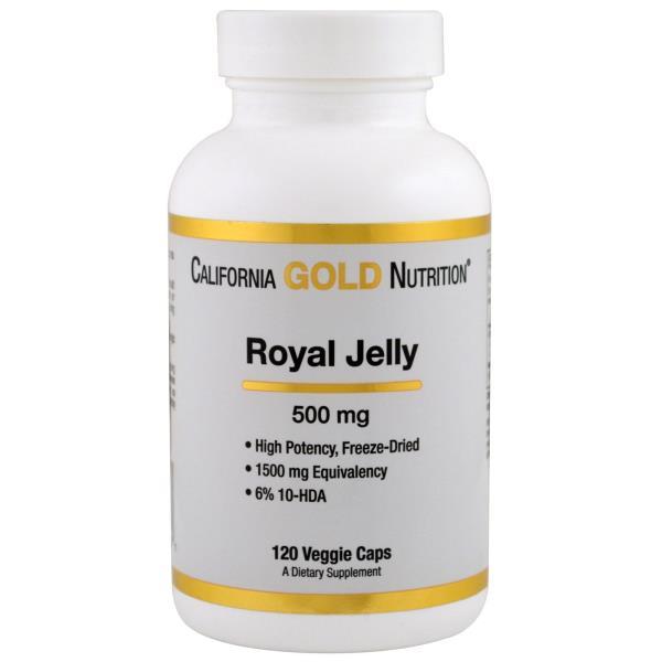 California Gold Nutrition, ロイヤルゼリー、500 mg、120ベジカプセル