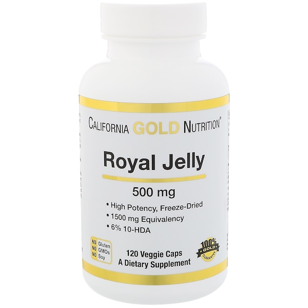 California Gold Nutrition, Royal Jelly, 500 mg, 120 Veggie Caps