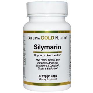 California Gold Nutrition, Silymarin Milk Thistle Extract、300 mg, 30ベジタブルカプセル