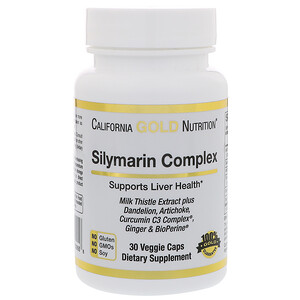 California Gold Nutrition, Экстракт расторопши пятнистой, 300 мг, 30 капсул в растительной оболочке инструкция, применение, состав, противопоказания