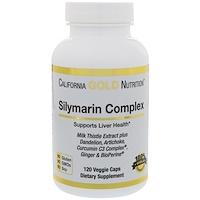 Силимарин-комплекс, здоровье печени, экстракт куркумы и расторопши, а также артишок и одуванчик с биоперином, 300 мг, 120 вегакапсул - фото
