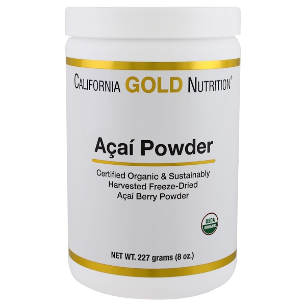 California Gold Nutrition, Organic Acai Powder, 8 oz (227 g) (Discontinued Item)