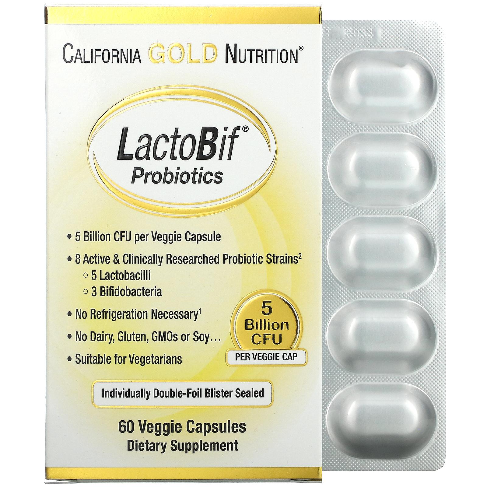 California Gold Nutrition, LactoBif Probiotics, Probiotika, 20 ...