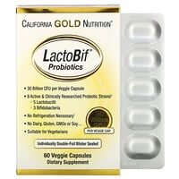 California Gold Nutrition, LactoBif Probiotics, 30 Billion CFU, 60 Veggie Capsules