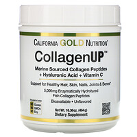 California Gold Nutrition, CollagenUP, Marine Collagen + Hyaluronic Acid + Vitamin C, Unflavored, 16.36 oz (464 g)