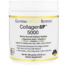 California Gold Nutrition, Collagen UP 5000, Marine-Sourced Collagen Peptides + Hyaluronic Acid + Vitamin C, 16.36 oz (464 g)