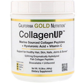California Gold Nutrition, Colágeno UP, sem sabor, 16,36 onças (464 g)