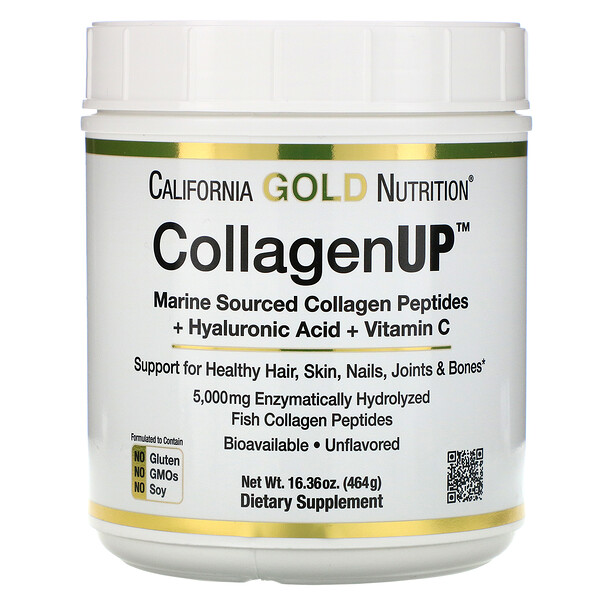 CollagenUP, Marine Hydrolyzed Collagen + Hyaluronic Acid + Vitamin C, Unflavored, 16.36 oz (464 g)