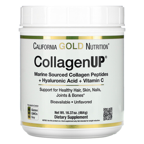 CollagenUP, Marine Hydrolyzed Collagen + Hyaluronic Acid + Vitamin C, Unflavored, 16.37 oz (464 g)