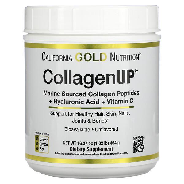 CollagenUp,海洋水解膠原蛋白 + 透明質酸 + 維生素 C,原味,16.37 盎司(464 克)