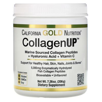 Фото CollagenUP, морской коллаген, гиалуроновая кислота и витаминC, без ароматизаторов, 206г (7,26унции)