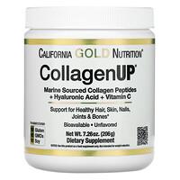 California Gold Nutrition, CollagenUP, Colágeno marino hidrolizado con ácido hialurónico y vitaminaC, Sin sabor, 206g (7,26oz)
