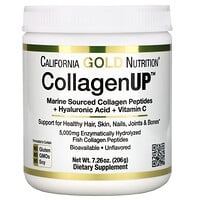 California Gold Nutrition, CollagenUP, marines Kollagen + Hyaluronsäure + Vitamin C, geschmackneutral, 206 g (7,26 oz.)