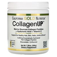 California Gold Nutrition, CollagenUP, Collagène marin + Acide hyaluronique + Vitamine C, Sans arôme, 206 g