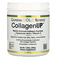 California Gold Nutrition, CollagenUP, Collagène marin hydrolysé + Acide hyaluronique + Vitamine C, Sans arôme, 204 g
