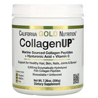 California Gold Nutrition, CollagenUP, marines hydrolysiertes Kollagen + Hyaluronsäure + Vitamin C, geschmacksneutral, 206 g (7,26 oz.)