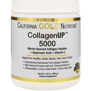 California Gold Nutrition, Collagen UP 5000, Marine Sourced Collagen Peptides + Hyaluronic Acid + Vitamin C, 7.23 oz (205 g)