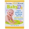 California Gold Nutrition, Baby Vitamin D3 Drops, 400 IU, .34 fl oz (10 ml)
