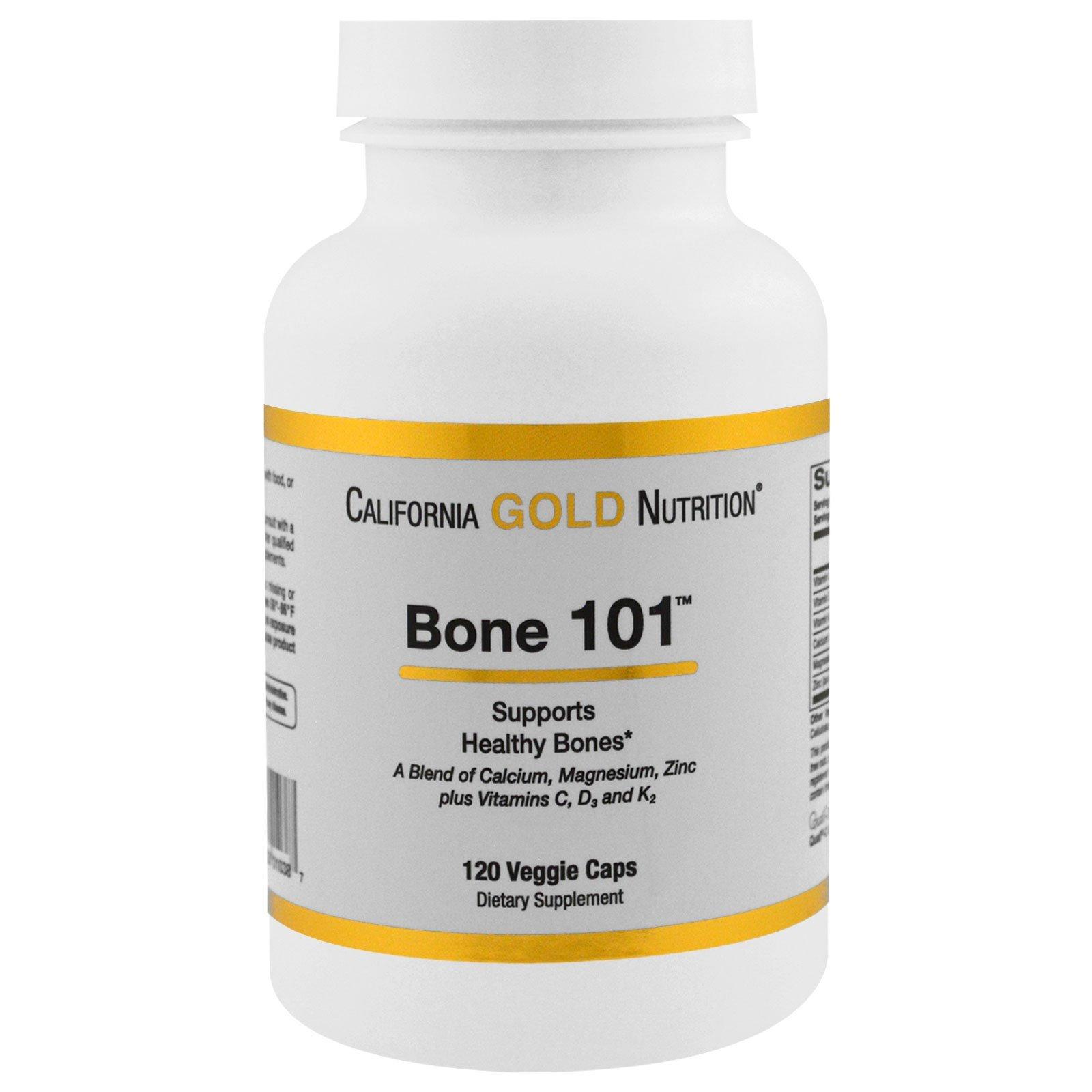 California Gold Nutrition, Targeted Support, Bone 101, 120 растительных капсул