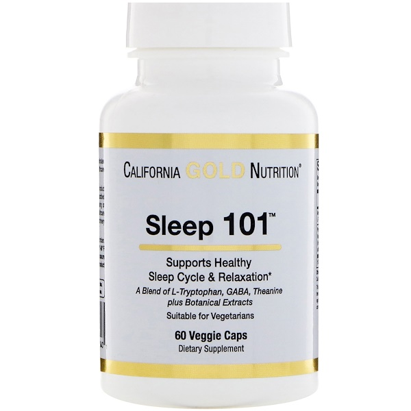 California Gold Nutrition, Targeted Support, Sleep 101, 60 Veggie Capsules (Discontinued Item)