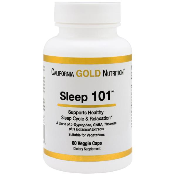 California Gold Nutrition, Targeted Support, Sleep 101, 60 Veggie Capsules