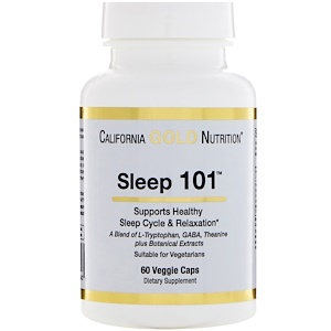 California Gold Nutrition, Targeted Support, Sleep 101, 60 Veggie Capsules отзывы покупателей