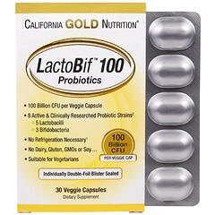 California Gold Nutrition, LactoBif Probiotics, 100 Billion CFU, 30 Veggie Capsules
