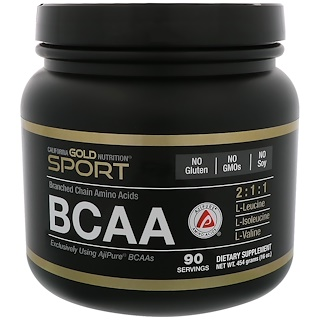California Gold Nutrition, BCAA、AjiPure®分岐鎖アミノ酸、16 oz (454 g)