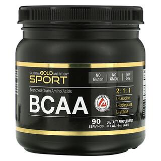 California Gold Nutrition, BCAA Powder, AjiPure, Branched Chain Amino Acids, 16 oz (454 g)