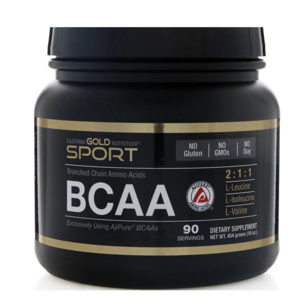 California Gold Nutrition, BCAA, AjiPure, Branched Chain Amino Acids, Gluten Free, Powder, 16 oz (454 g)