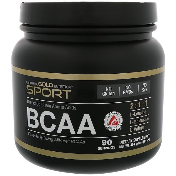 California Gold Nutrition, BCAA, AjiPure® Branched Chain Amino Acids, 16 oz (454 g)