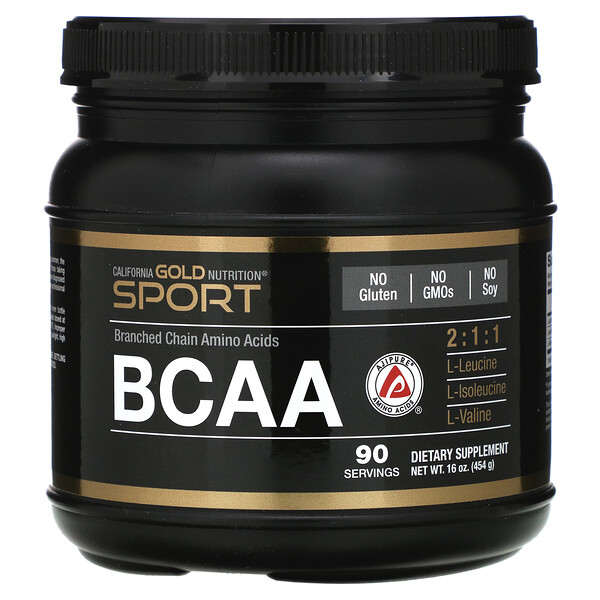BCAA Powder, AjiPure®, Branched Chain Amino Acids, 16 oz (454 g)